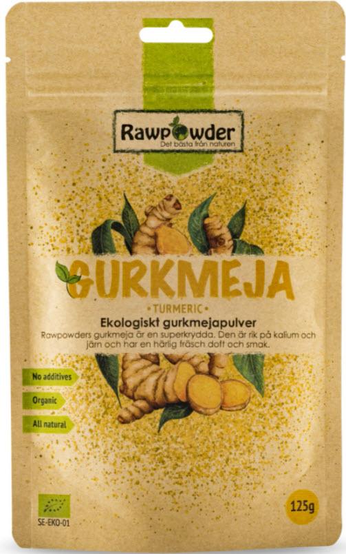 rawpowder gurkmeja 100% ekologisk
